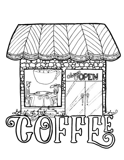 Adult Coloring Pages for Coffee Lovers * Moms and Crafters