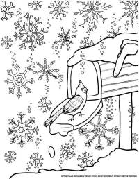 Winter Snowflake Coloring Page for Grown-ups (a free ...