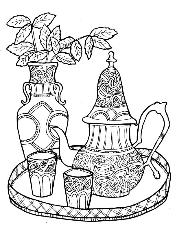 morocco coloring pages | Beautiful Morocco 4 Coloring Pages Printable Free Coloring ...