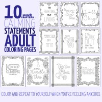 Anti Stress Coloring Book for Adults - Moms and Crafters