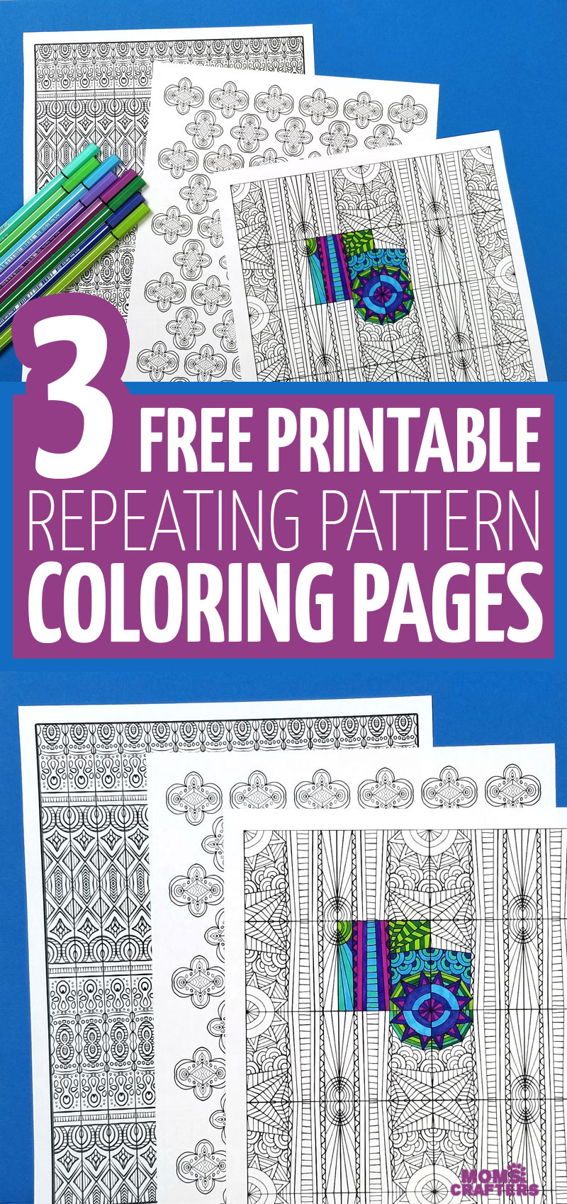 Free Printable Pattern Coloring Pages For Adults Moms And Crafters