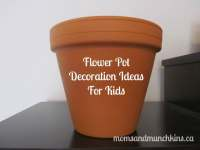 Decorating Flower Pots with Kids - Moms & Munchkins
