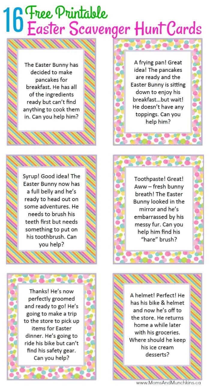 Easter Scavenger Hunt Ideas  Moms  Munchkins