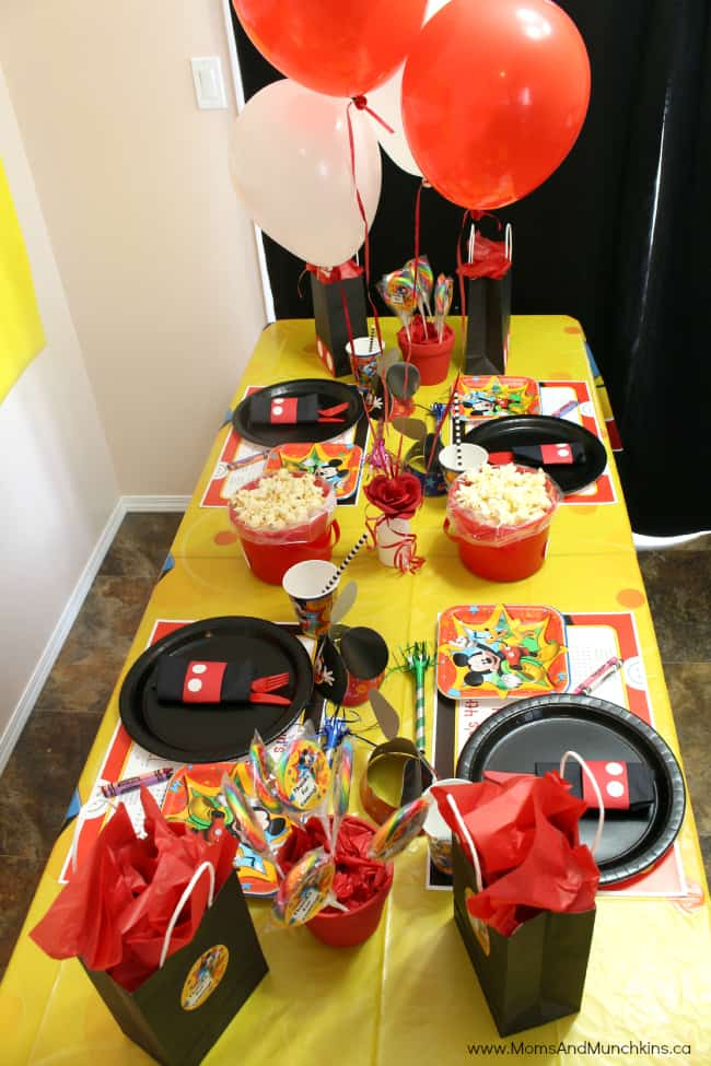 Mickey Mouse Party Ideas For Kids Moms & Munchkins