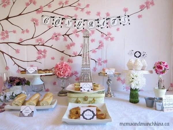 Paris Bridal Shower Ideas Moms Amp Munchkins