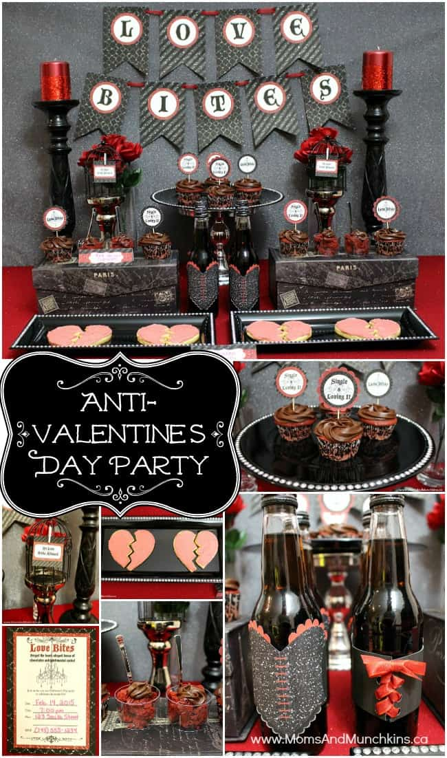 Anti Valentines Day Party Moms Amp Munchkins