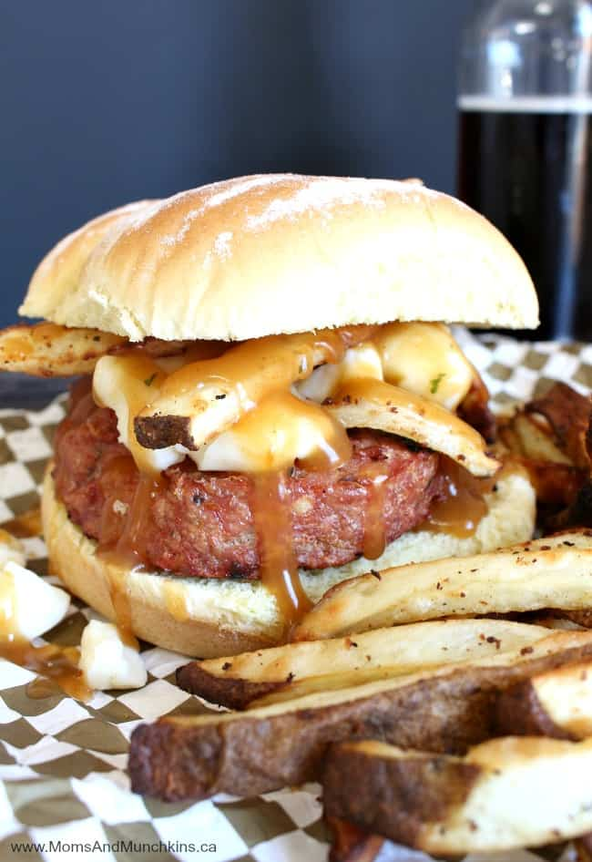 Chicken Poutine Burgers Recipe - Moms & Munchkins