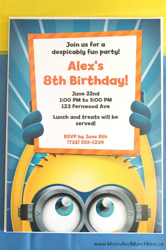 Printable Invitations Minions
