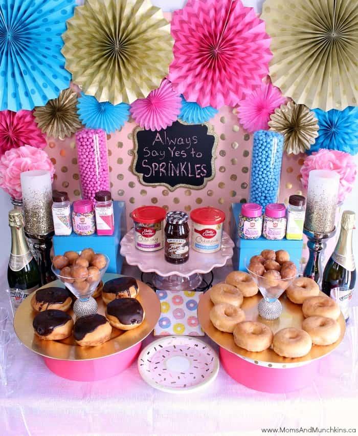 Donut Party Dessert Table Ideas  Moms  Munchkins