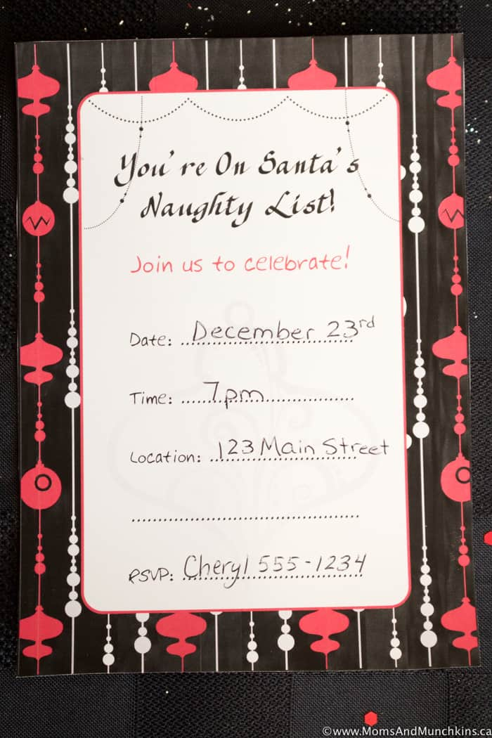 Naughty Christmas Party And Free Printables Moms Amp Munchkins