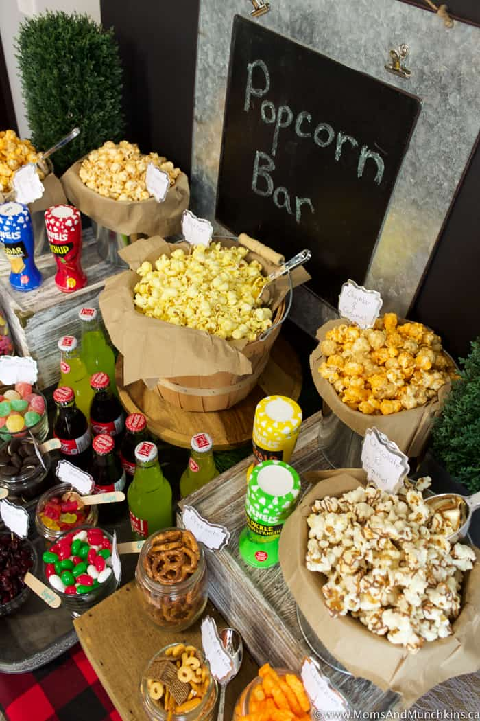 Popcorn Bar Ideas for a Buffet  Moms  Munchkins