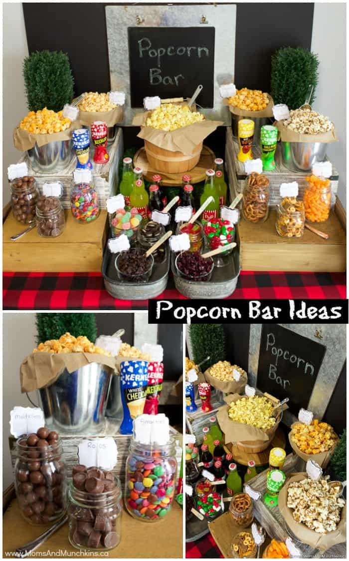 Popcorn Bar Ideas for a Buffet  Moms  Munchkins