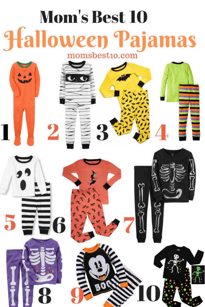 mom's best 10 halloween pajamas for kids and toddlers 2018