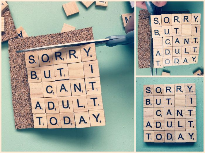 Cut out the Coasters - MGIM Scrabble Coasters