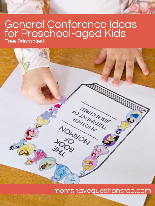 List Of Preschool General Conference Activities