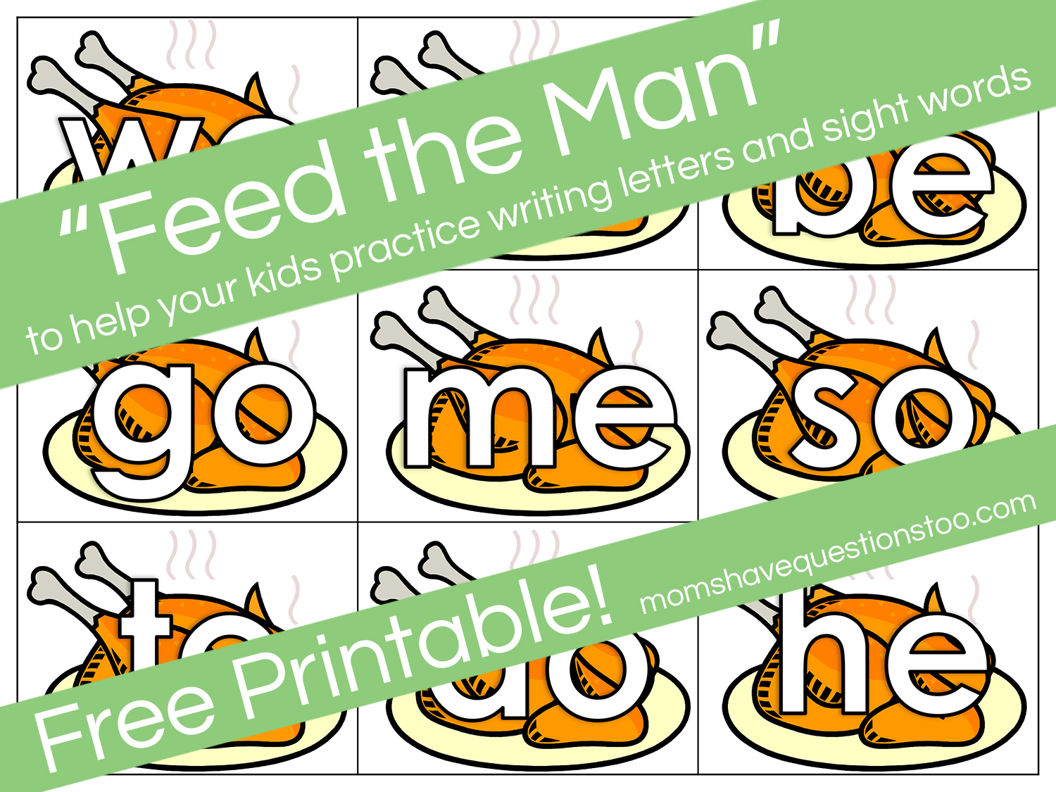 Feed The Man Letter And Sight Word Activity