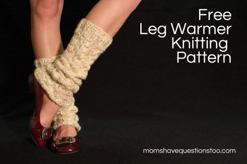 Chunky Cabled Legwarmers/Boot Socks: free knitting pattern