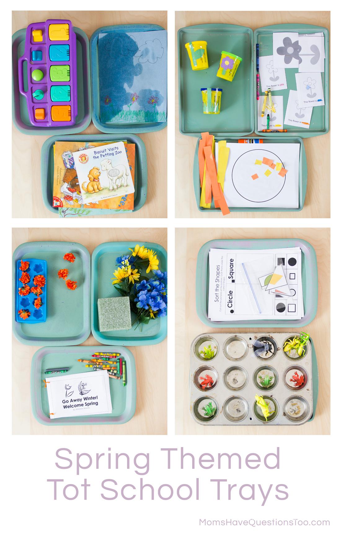 Spring Themed Montessori Tot Trays