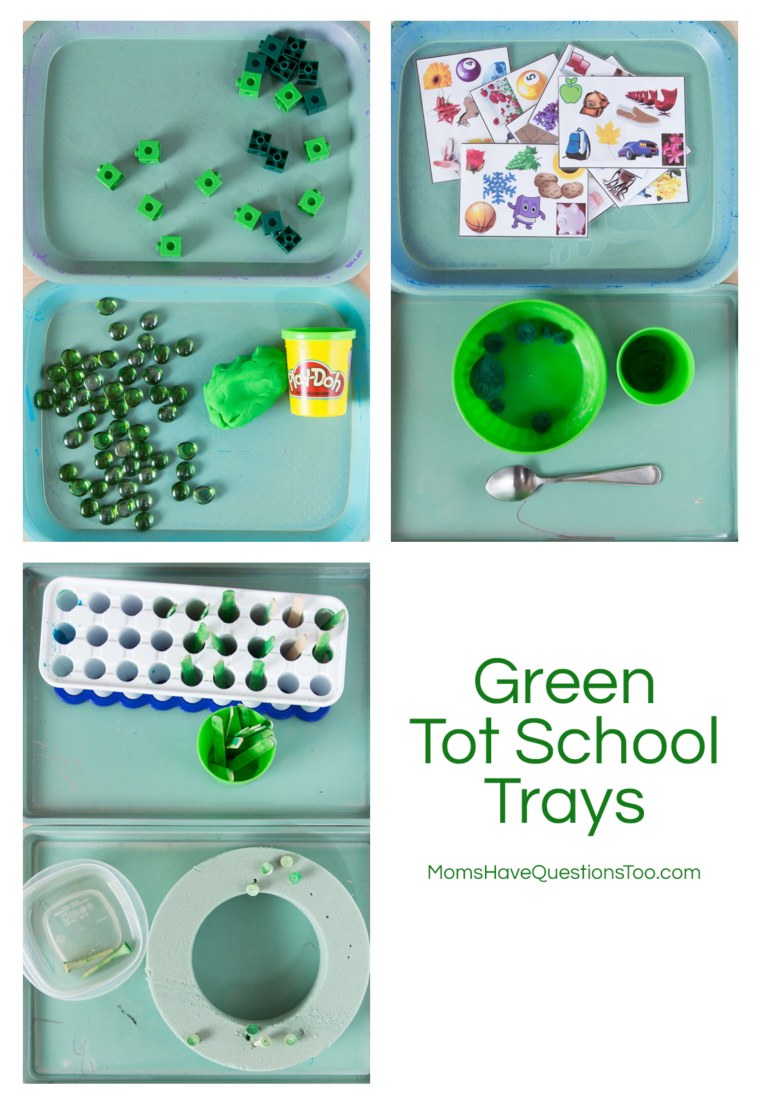 Green Tot Trays For Toddlers