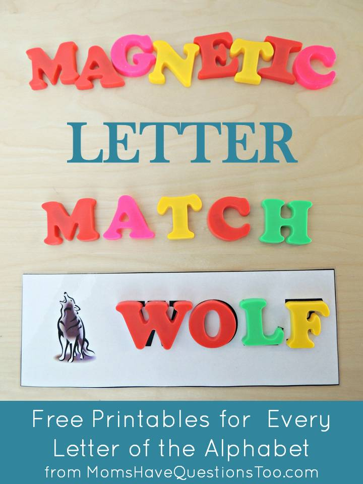 Teaching The Alphabet With Magnetic Letter Match Printables