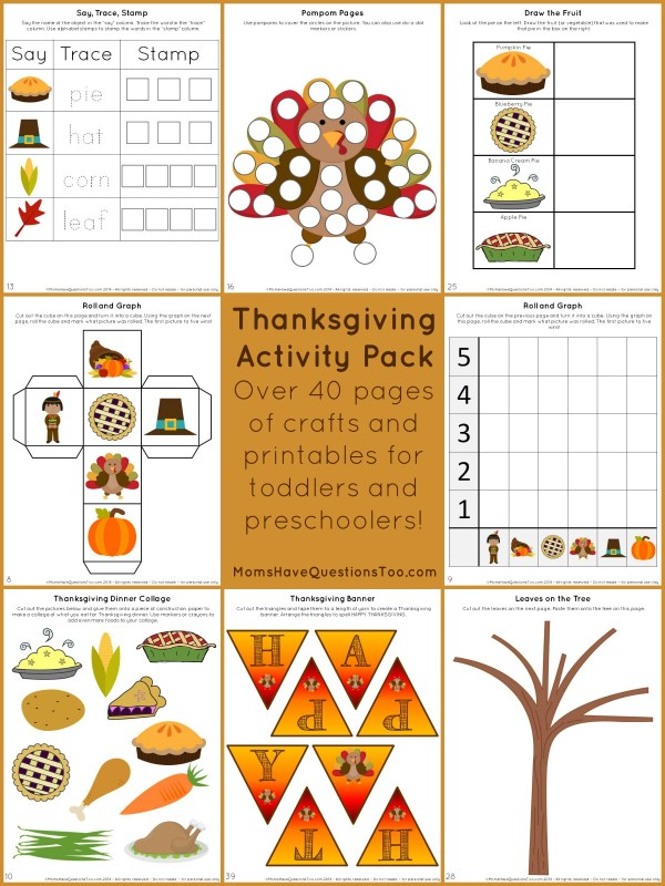 Thanksgiving Activity Pack with Crafts and Printables