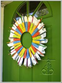 DIY - Back To School Wreath - Mom's Lifesavers
