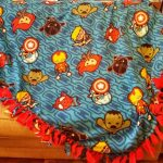 Make A No Sew Fleece Blanket For Your Marvel Fan Mom S Magical Miles