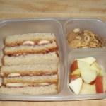 What's In Our Lunch: Triple Decker Peanut Butter & Jelly Sandwich