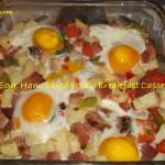 Baked Egg, Ham and Diced Potato Breakfast Casserole – Dairy Free