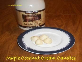 Maple Coconut Cream Candies