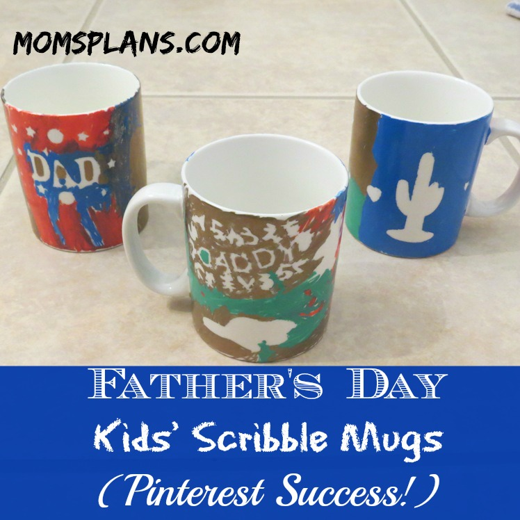 Pinterest Sucess: Father's Day Kids' Scribble Mugs!