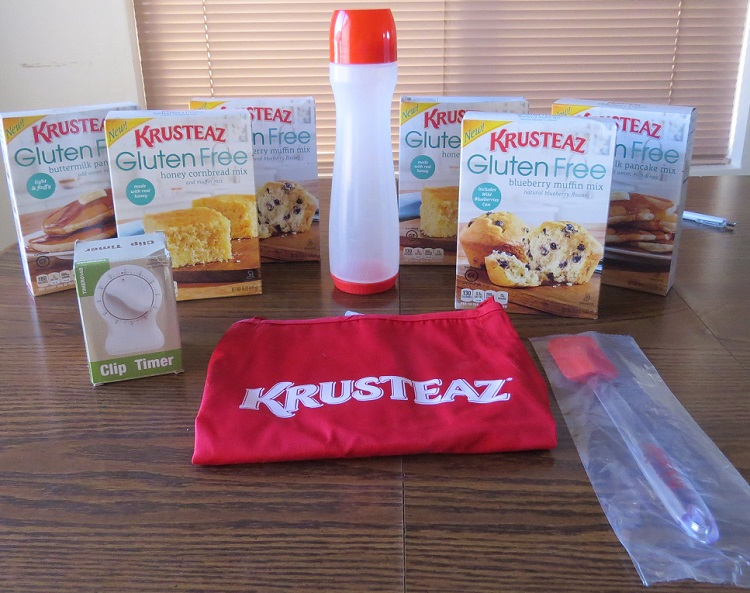 The sample pack I received for review purposes. The winner's prize pack will differ as stated below.