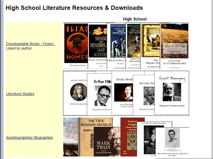 CHSH--High School Lit Resources
