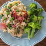 Pasta with Salami, Peas, and Carrots Recipe (Gluten Free, Dairy Free)