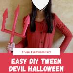 Easy DIY Tween Devil Halloween Costume