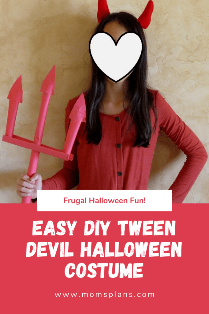 Easy DIY Tween Devil Halloween Costume