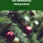 Christmas Activities and Lessons for Elementary Homeschool