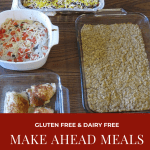 Meals and Snacks I Made Ahead: Meal Prep and Menu Plan: November 11, 2019