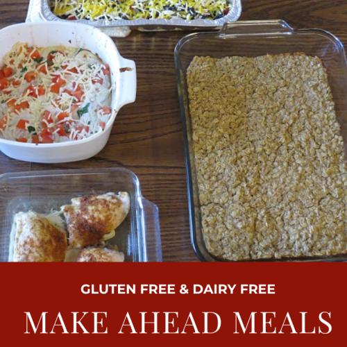 Dairy Free Gluten Free Meal Prep