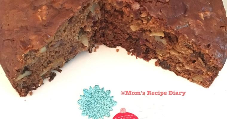 Easy Eggless Christmas Fruit Cake