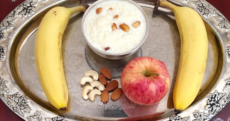 Bellam Paramannam/Rice Kheer/Rice Pudding – Instant Pot Method