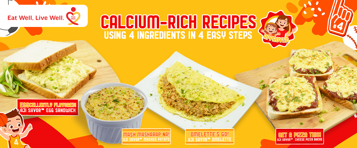 AJI SAVOR Calcium-Rich Recipes