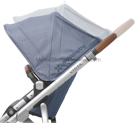 The roomy seat is 12u2033 wide and 19.5u2033 from the back of the seat to the top of the canopy. But you can slide the canopy up the frame to ...  sc 1 st  Momu0027s Stroller Reviews & NEW! Uppababy Vista 2018 Stroller Review | Momu0027s Stroller Reviews