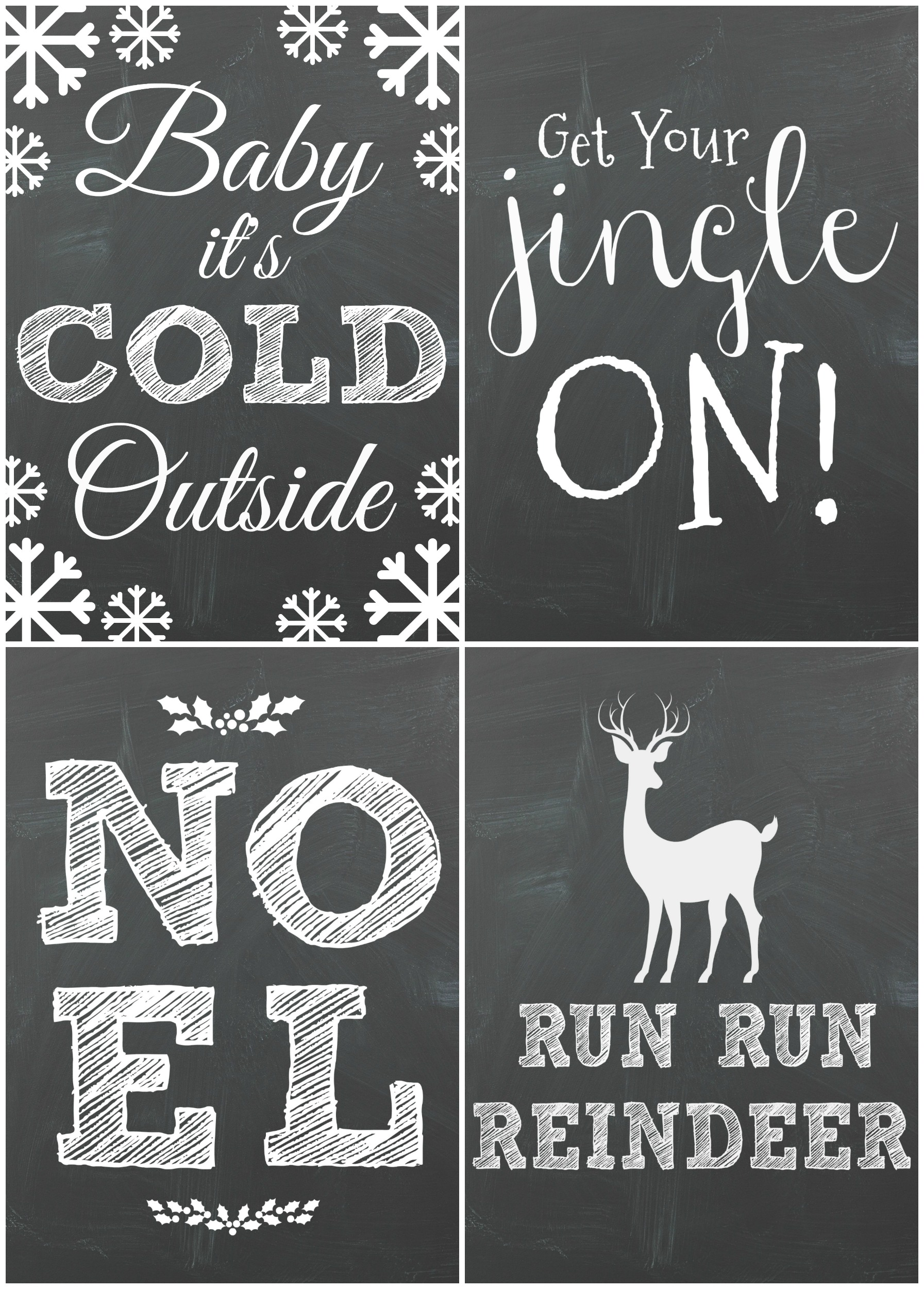 Free Chalkboard Christmas Printables Moms Without Answers
