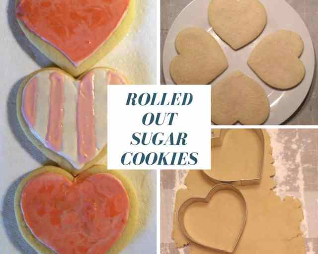 Rolled Out Sugar Cookies - www.momwithcookies.com #sugarcookies #heartcookies #valentinescookies