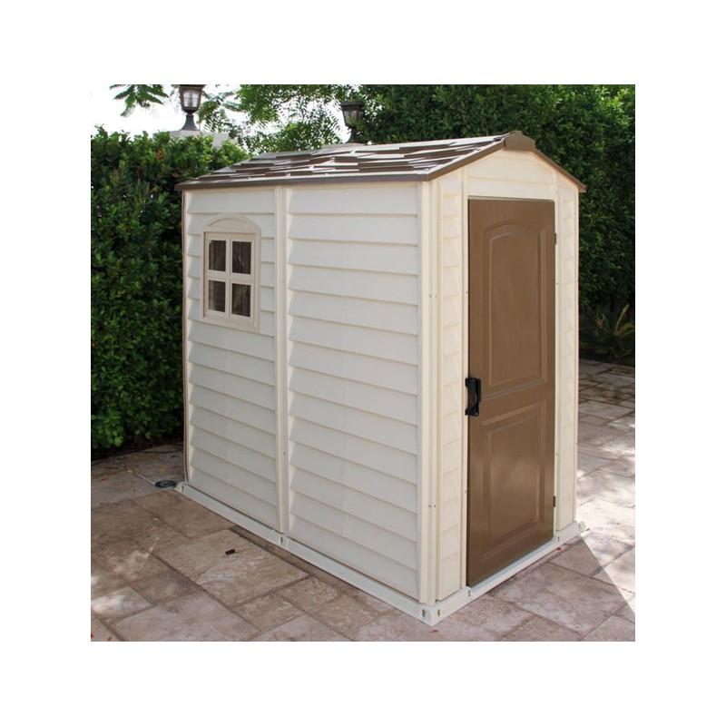 abri de jardin en pvc woodstyle premium m duramax