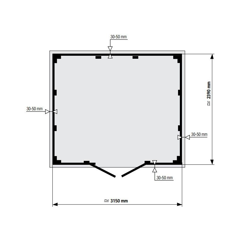 Abri De Jardin En PVC 75m DECO Rouge Et Blanc Grosfillex