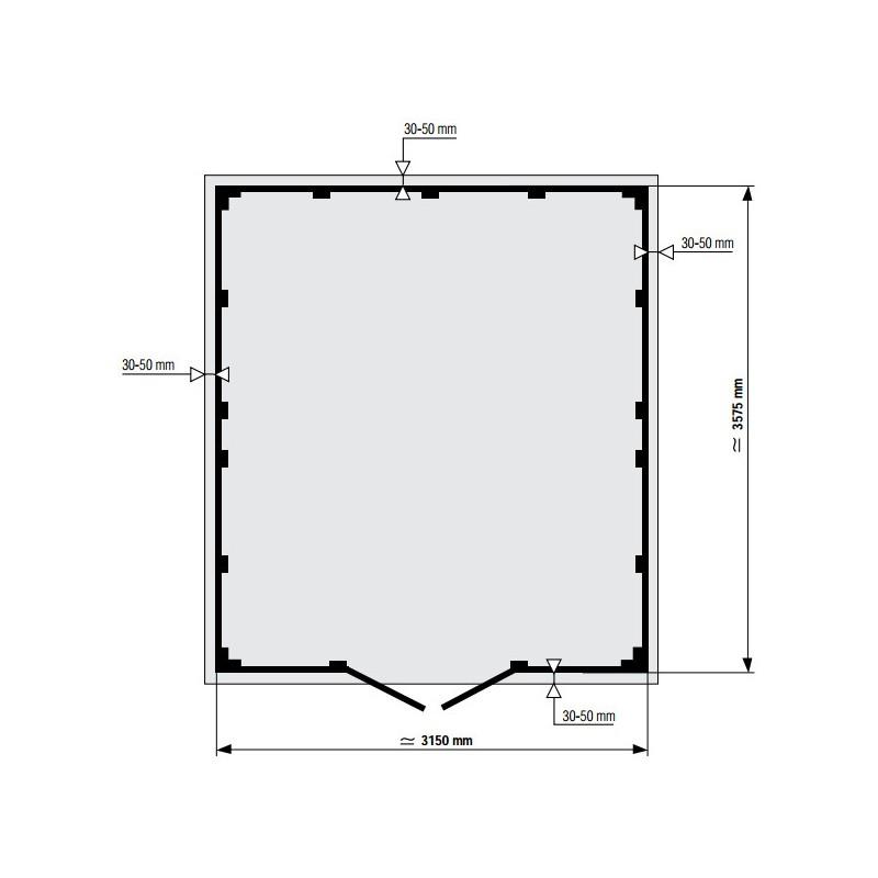 Abri De Jardin En PVC 112m DECO Rouge Et Blanc Grosfillex