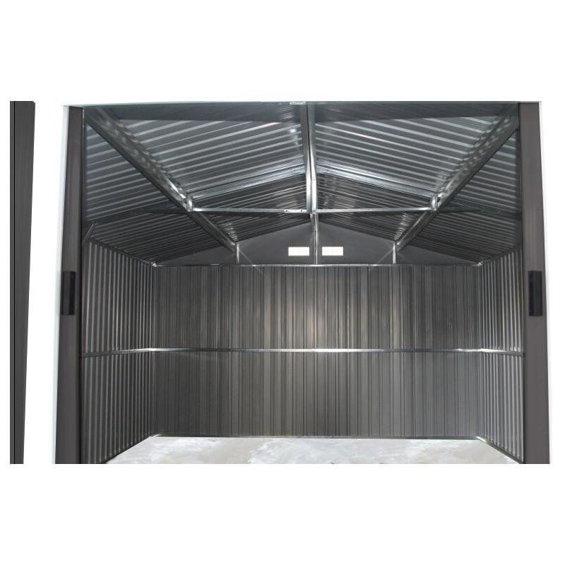Abri De Jardin Mtal 884m Anthracite Kit Dancrage X METAL