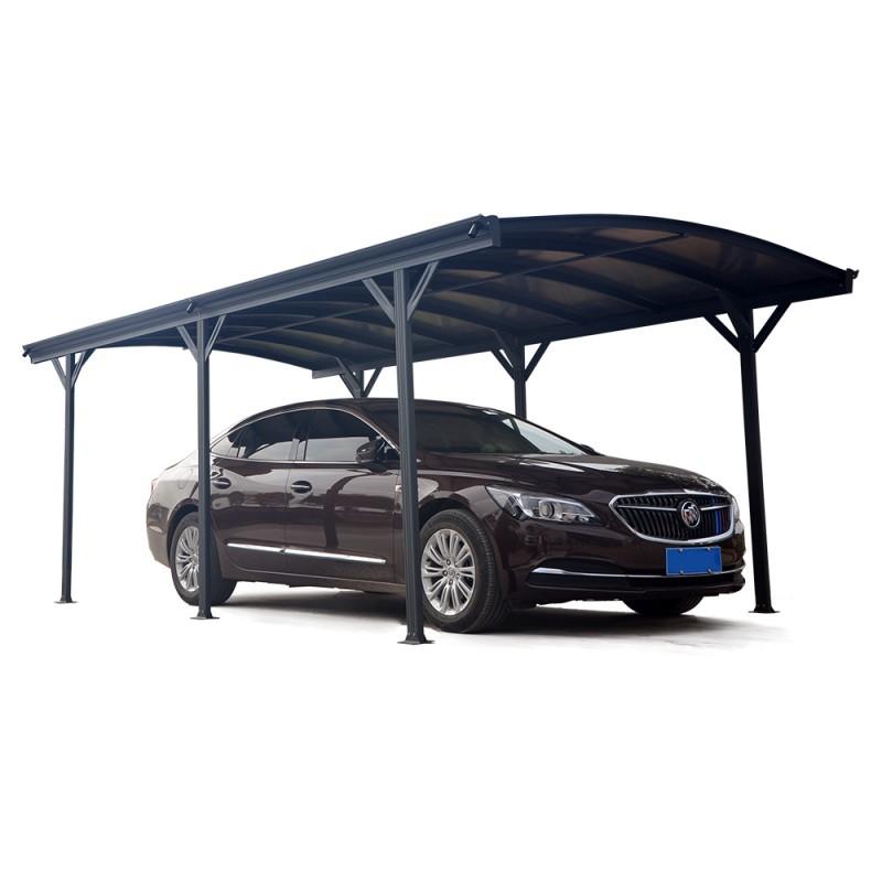Carport En Alu Anthracite 3x576m Et Polycarbonate 6mm X METAL